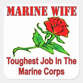海兵隊のUSMCの海洋の妻の最も堅い仕事 スクエアシール