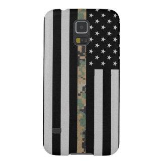 海兵隊員か海軍薄いMarpatの迷彩柄ライン旗の銀河系S5 Galaxy S5 ケース