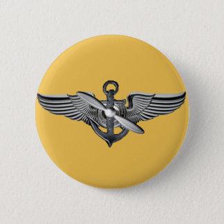 海兵隊員の試験翼の金ゴールド 5.7CM 丸型バッジ