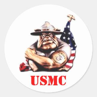 海兵隊員USMC ラウンドシール