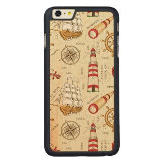 海場面 CarvedメープルiPhone 6 PLUS スリムケース