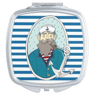 海大尉いかり青および白のストライプ