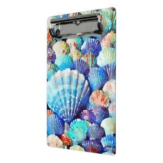 海岸による貝殻 ミニクリップボード
