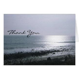 海岸に位置する-ありがとう カード