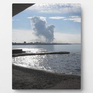 海岸に沿う産業景色 フォトプラーク