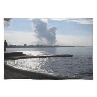 海岸に沿う産業景色 ランチョンマット
