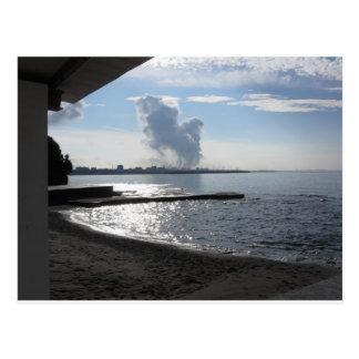 海岸に沿う産業景色 葉書き