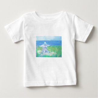 海岸の天使の乳児のTシャツ ベビーTシャツ