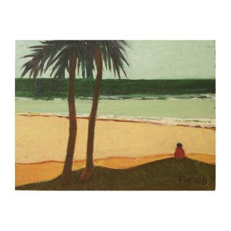 海岸の孤独2006年 ウッドウォールアート