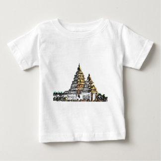 海岸の寺院のスケッチ ベビーTシャツ
