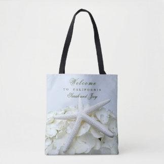 海岸の庭のヒトデのビーチ結婚式の歓迎のバッグ トートバッグ