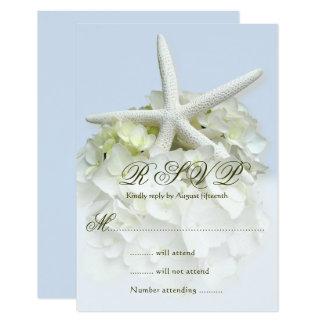 海岸の庭園の結婚式の応答のエンクロージャカード 8.9 X 12.7 インビテーションカード