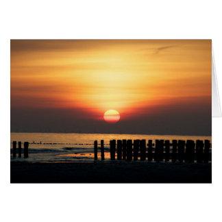 海岸の意見-ビーチからの挨拶 カード