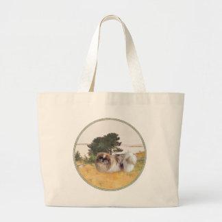 海岸の探検 ラージトートバッグ