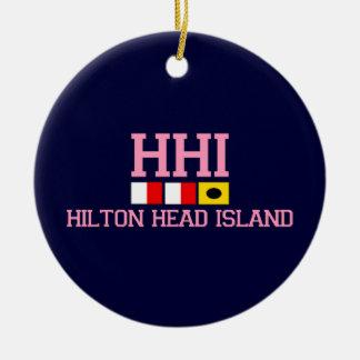 海岸の楕円形のAHiltonのヘッド島 セラミックオーナメント
