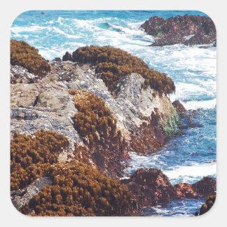 海岸の海洋波 スクエアシール