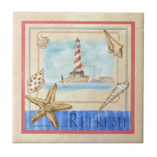 """海岸の灯台によってはビーチのタイルが""""新たになります"""" タイル"""
