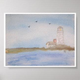 海岸の灯台 ポスター