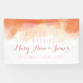 海岸の結婚式の歓迎の赤面の水彩画 横断幕