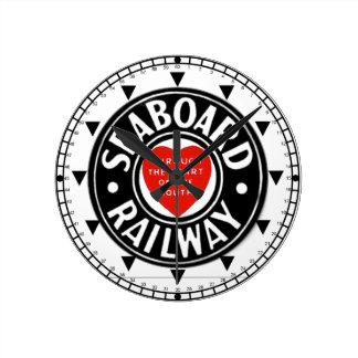 海岸の航空路鉄道のハートのロゴの柱時計 ラウンド壁時計