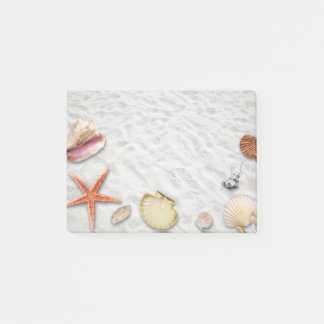 海岸の貝殻のポスト・イット ポストイット