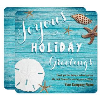 海岸の貝殻沿岸ビジネス休日 カード