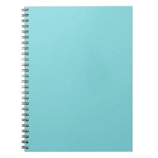 海岸の青く名前入りな水のティール(緑がかった色)の背景 ノートブック