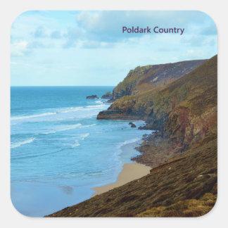 海岸のPoldarkの北のコーニッシュの国コーンウォールイギリス スクエアシール