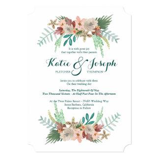 海岸線の冬の結婚式 12.7 X 17.8 インビテーションカード
