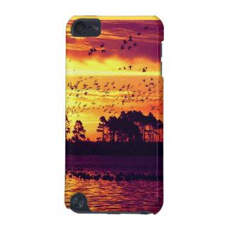 海岸線の日没、鳥 iPod TOUCH 5G ケース