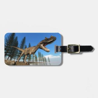 海岸線のCeratosaurusの恐竜 ラゲッジタグ