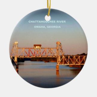海岸航空会社RR橋- CHATTAHOOCHEE川 セラミックオーナメント