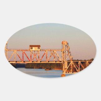 海岸航空会社RR橋- CHATTAHOOCHEE川 楕円形シール