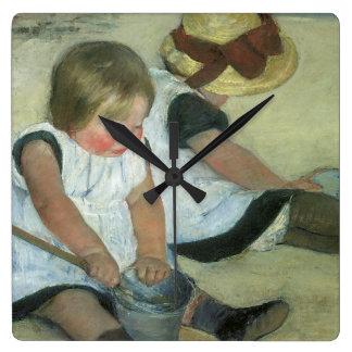 海岸1885年の子供 ウォールクロック