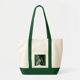 海岸-水色-のペリカン緑 トートバッグ