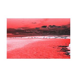 海岸Tintagelの火 キャンバスプリント