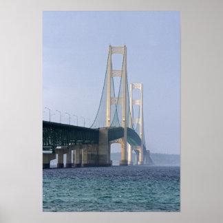 海峡にの及ぶマキナック橋 ポスター