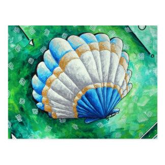 海帆立貝の郵便はがき ポストカード
