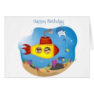 海底お祝い カード