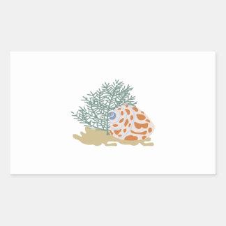 海底で殻から取り出して下さい 長方形シールステッカー