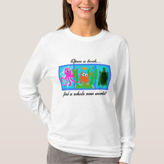 海底に本のTシャツおよびギフトを開けて下さい Tシャツ