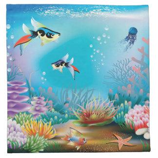 海底生命 ナプキンクロス