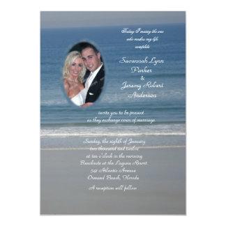 海愛写真の結婚式 12.7 X 17.8 インビテーションカード
