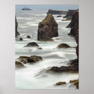海景および海の積み重ね、シェトランド諸島 ポスター