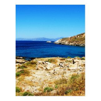 海景- Mykonos、ギリシャ ポストカード