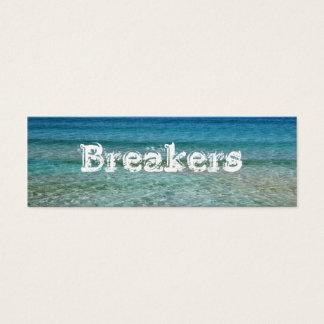 海水カスタムで細い名刺のテンプレート スキニー名刺