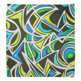 海波手の色彩の鮮やかな抽象美術 バンダナ