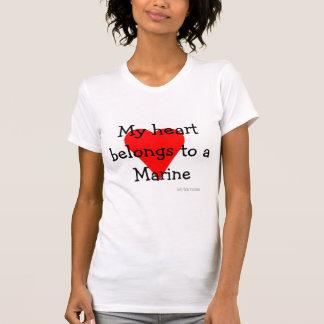 海洋のハートのTシャツ Tシャツ