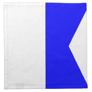"""海洋の印コード旗の手紙A """"アルファ"""" ナプキンクロス"""