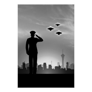 海洋の挨拶UFOのプリント ポスター